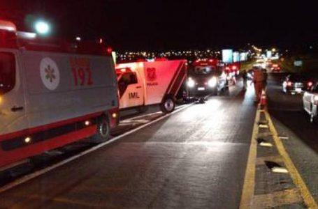 Pedestre morre atropelado na BR-369 em Apucarana