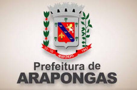 Concurso Público para Prefeitura de Arapongas, Inscrições abertas