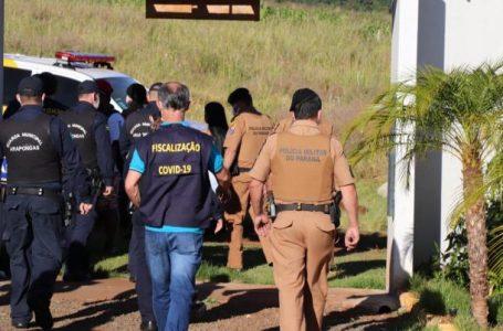 Operação fecha festa em área de lazer em Arapongas,  Drogas e arma foram apreendidas