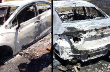 Bandidos queimam carro roubado em Cambé na região de Jaguapitã