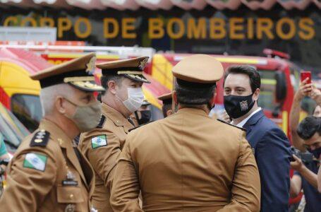 Governador Ratinho JR entrega 15 novas viaturas para o Corpo de Bombeiros