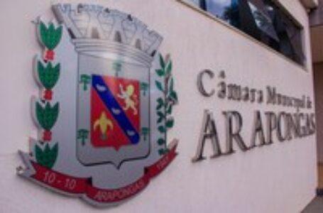 CÂMARA DE ARAPONGAS REALIZA PRIMEIRA SESSÃO NA SEGUNDA FEIRA (08)