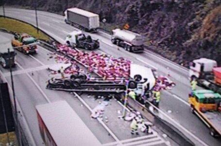 Caminhoneiro morre em acidente na BR – 376 após tombar caminhão